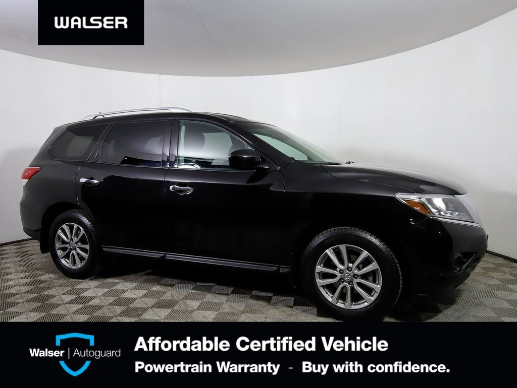 Pre-Owned 2015 Nissan Pathfinder S 4WD PUSH BUTTON START 7 PASSENGERS 1 OWNER TRADE
