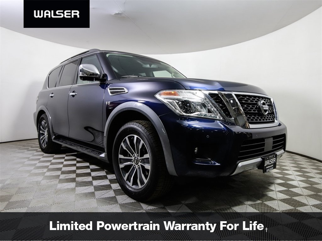 Certified Pre-Owned 2018 Nissan Armada CERTIFIED SL 4WD PREMIUM MOONROOF HTD LEATHER TOW