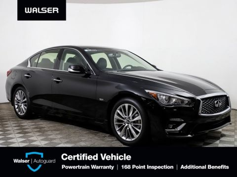 Pre-Owned 2018 INFINITI Q50 ESSENTIAL PACKAGE NAV REMOTE START HEATED LEATHER