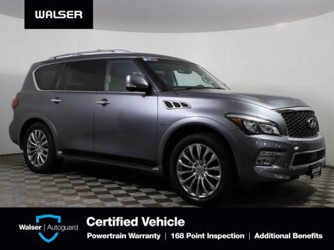 Pre-Owned 2016 INFINITI QX80 DRIVERS ASSISTANCE THEATER 22 WHEELS LOADED!
